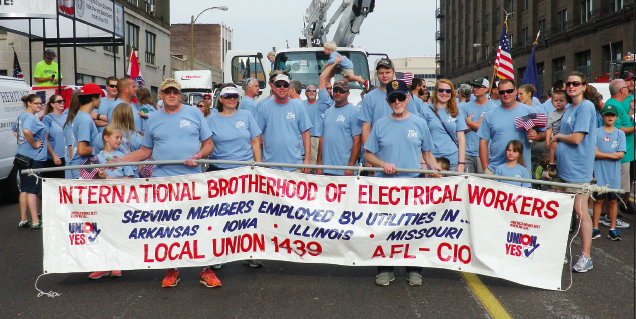 149 members marching in the St Louis Labor Day parade!